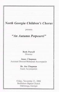 Fall 2008 program front