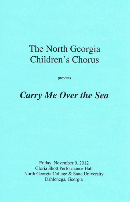 Fall 2012 program front