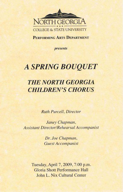 Spring 2009 program front