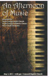 Spring 2011 Combined concert program front