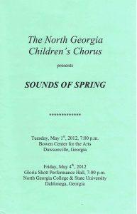 Spring 2012 program front